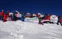 Erdak Hasan Dağı Kış Tırmanışı'nı gerçekleştirdi.
