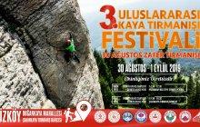 3. Uluslararası Şahinkaya Kaya Tırmanışı Festivali Daveti