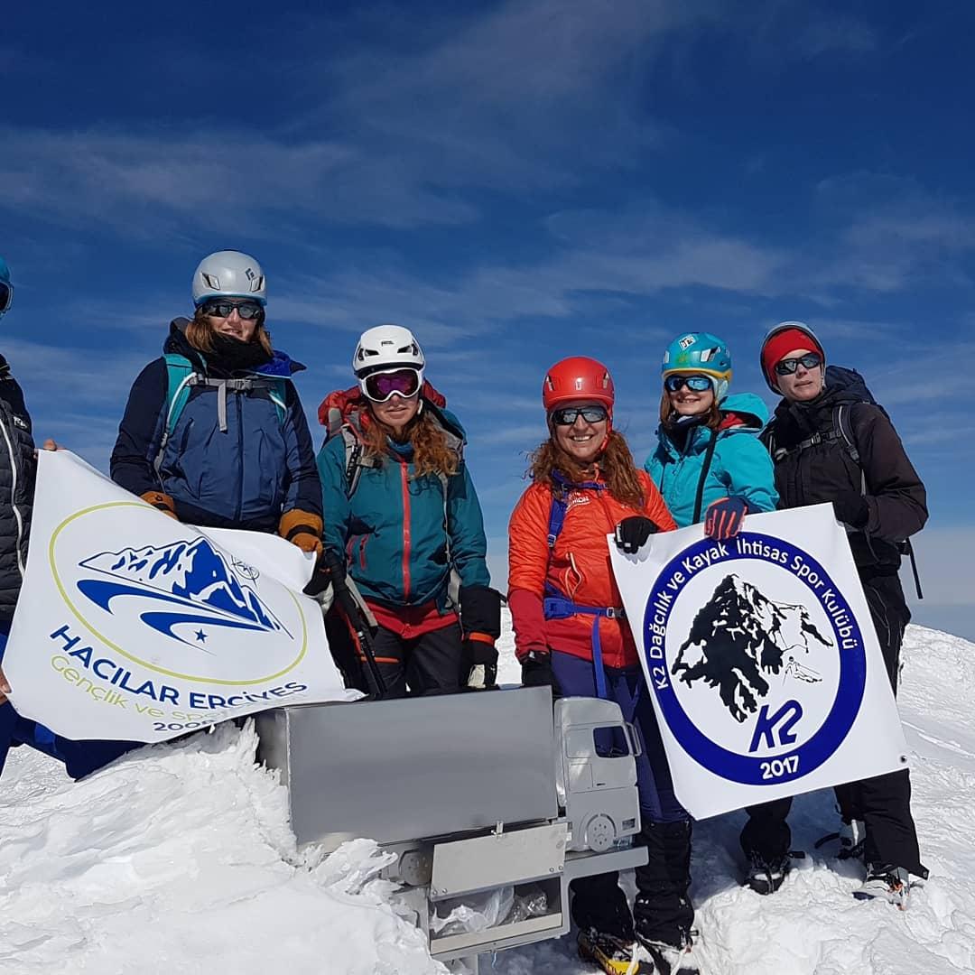 K2 Dağcılık Kulübü Erciyes Dağı Faaliyeti