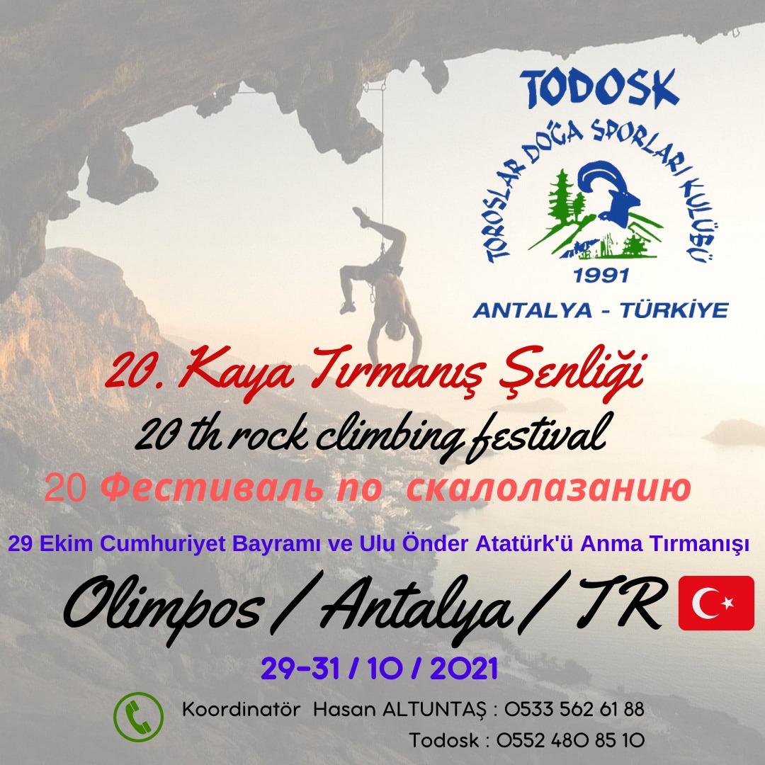 TODOSK 20. ULUSAL KAYA TIRMANIŞ ŞENLİĞİ