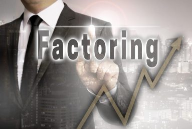 Factoring is shown by businessman concept