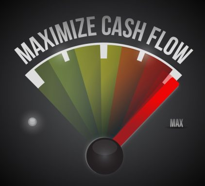 maximize cash flow mark illustration design
