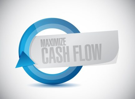maximize cash flow cycle sign illustration