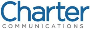 (Charter logo) Company name in large blue text: CHARTER. Below company name in grey: COMMUNICATIONS