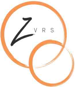 (ZVRS logo) Large orange circle with black text inside: ZVRS. Links to another orange smaller circle on bottom.