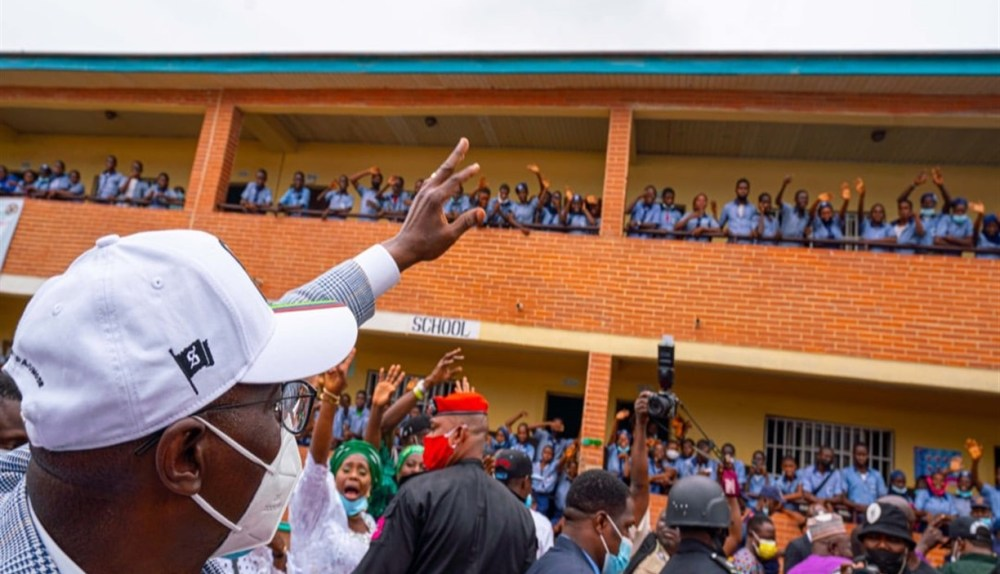 WE ARE BUILDING STUDENTS' CAPACITY TO REDUCE UNEMPLOYMENT, GROW ENTREPRENEURS – SANWO –OLU