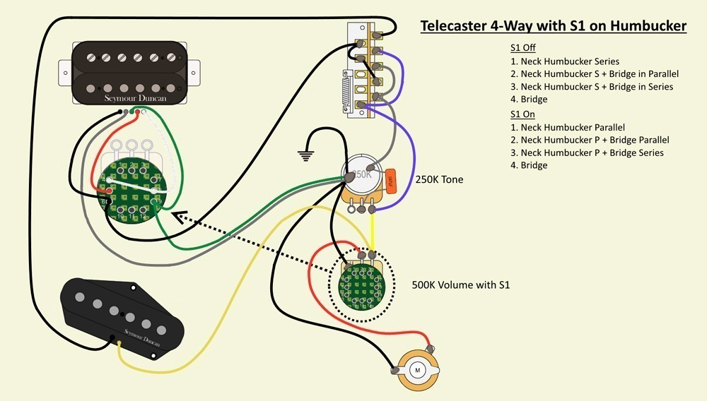 Wiring A 4 Way Switch (with An S1)?