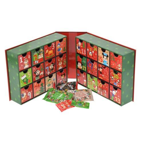 ディズニーストア アドベントカレンダー ミッキー&フレンズ CHRISTMAS SANTA'S GIFT 内側