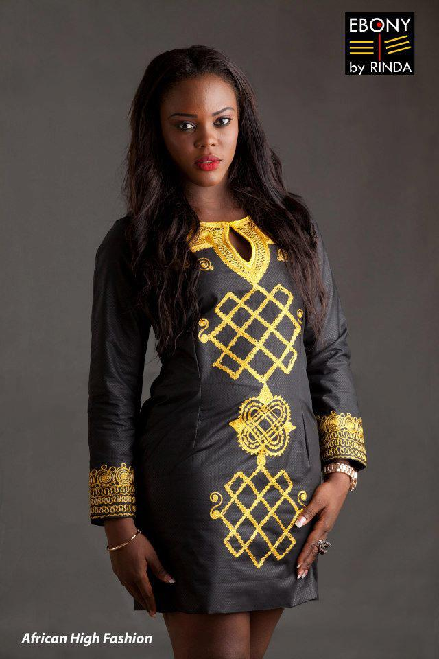 EBONY BY RINDA- Ladies' embroidery dress