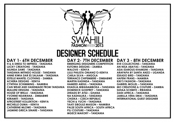 Swahili Fashion Week 2013 The Biggest Fashion Annual Event In East And Central Africa