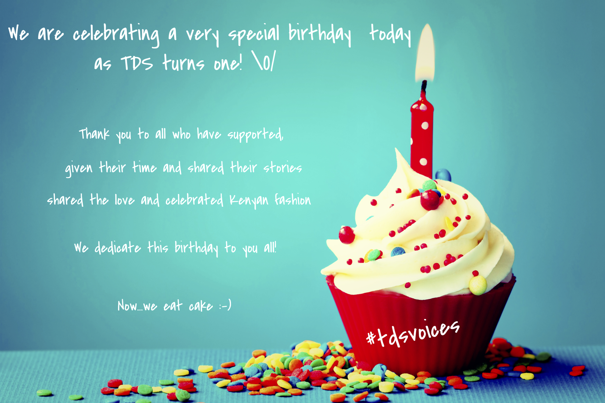 Today is a special day :-) TDS Turns one \o/