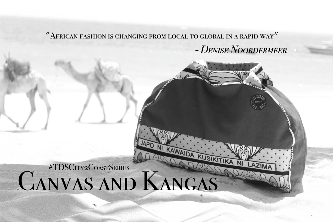 One of kind bags made with love and carrying the essence of the Kenyan Coast, Canvas and Kangas - Part II