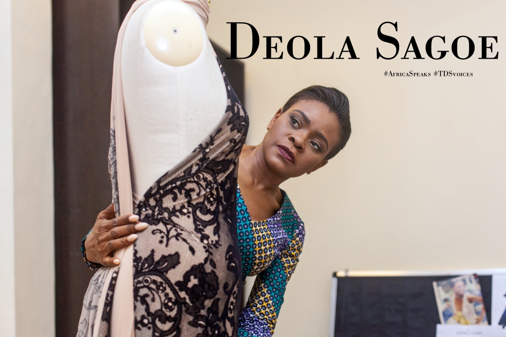 "Fashion designer Deola Sagoe to feature in Al Jazeera's ""My Nigeria"" #AfricaSpeaks #TDSvoices"
