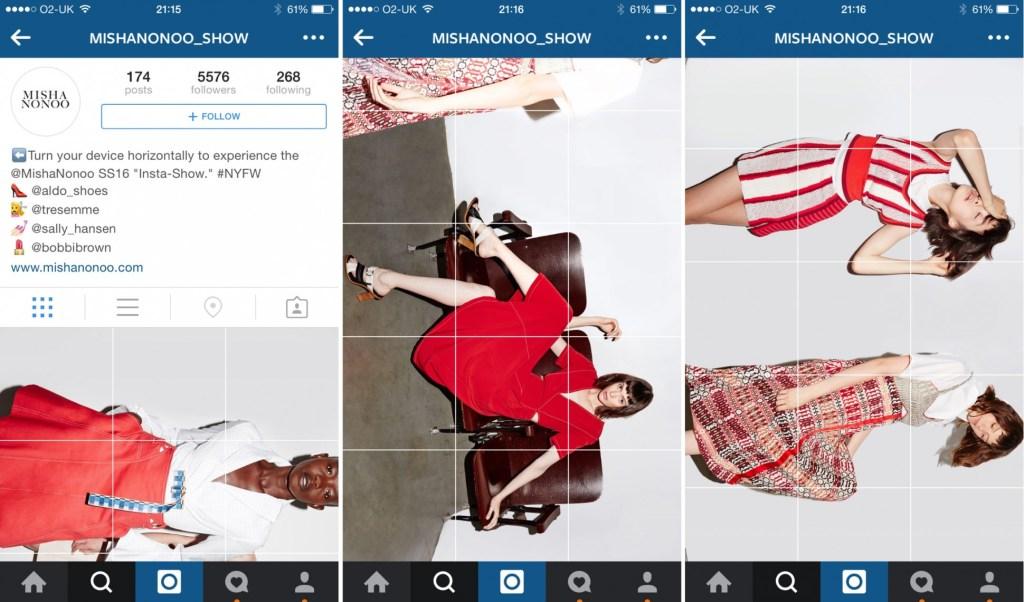 Misha Nonoo's Insta-show launched during New York Fashion Week in September 2015. (Image via @mishanonoo_show on Instagram)
