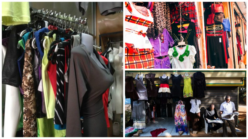 Collage of stalls downtown Nairobi [Image: courtesy of nikhilnairobi, alamy stock photo and stuff.co.nz]
