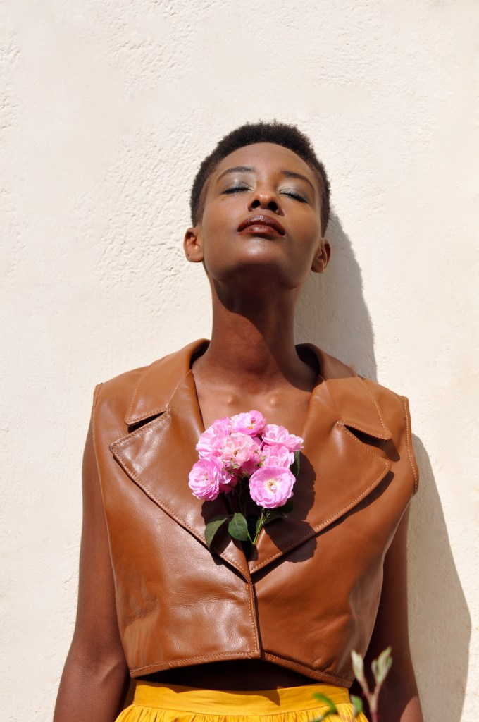 Full leather tux crop top [Image: Courtesy of M+K Nairobi]