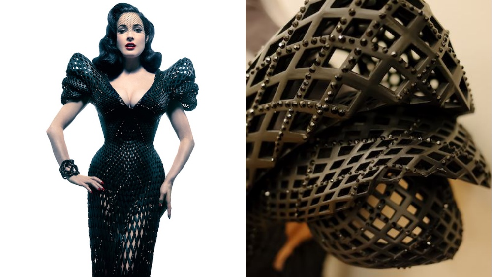 Dita von Teese 3D Printed Dress