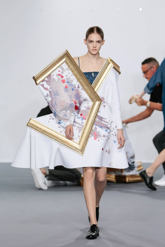 Part of Viktor & Rolf's 'Wearable Art' collection, this dress can fold up into a piece of art and be hung on a wall.