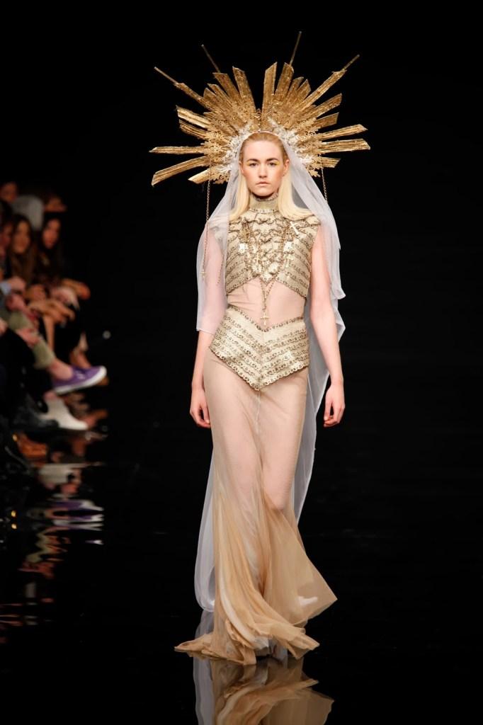 "The ""Ecstasy"" gown worn by Lady Gaga and created by Greek designer Eddie Gavriilidis.  [Image: Courtesy of Eddie Gavriilidis]"
