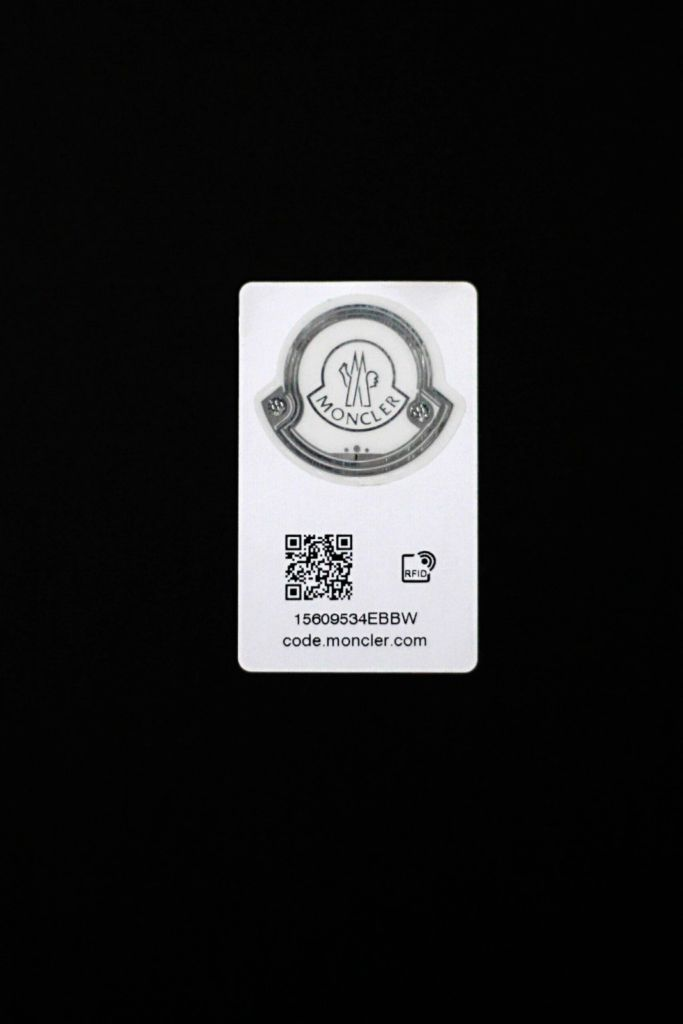 Moncler Logo with QR code [Image: Courtesy of Moncler]
