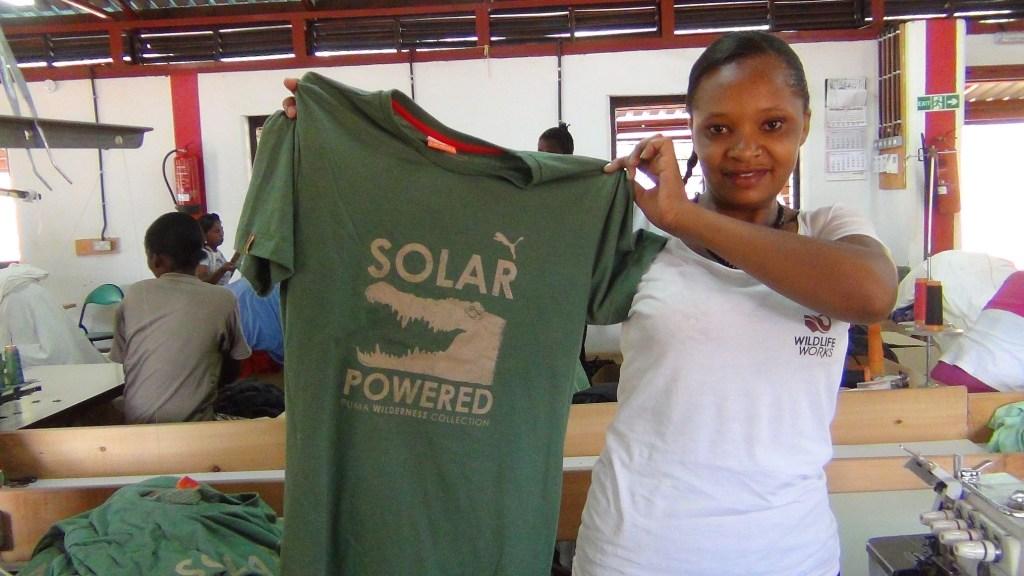 Grace Wanjala at the Wildlife Works eco-factory [Image: Courtesy of Wildlife Works]