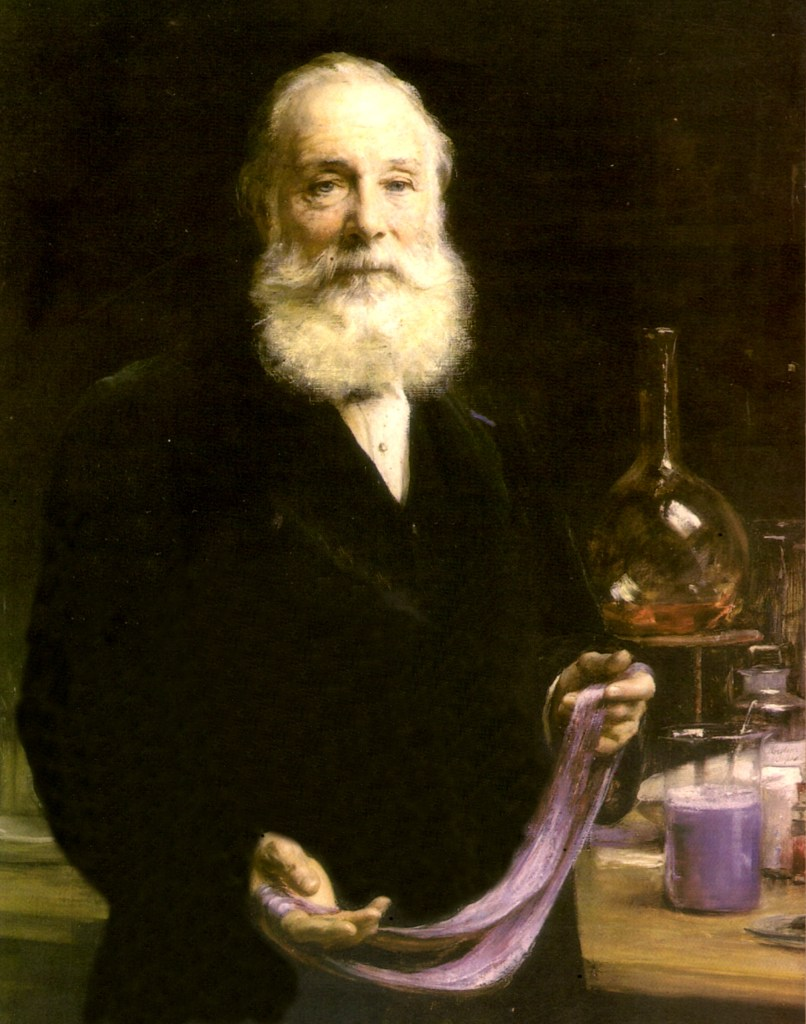 William Perkins, who in 1856 (aged 18) discovered the first aniline dye, mauveine