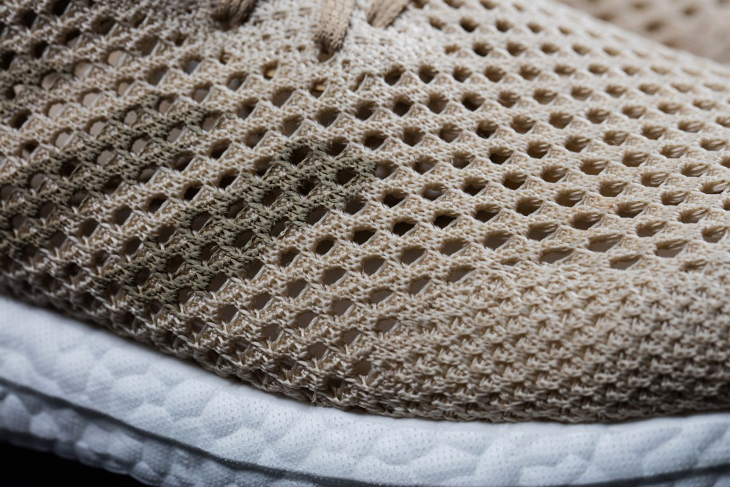 Adidas Biosteel trainers biodegradable fabric shoes fashion design. [Image: Adidas / Dezeen]