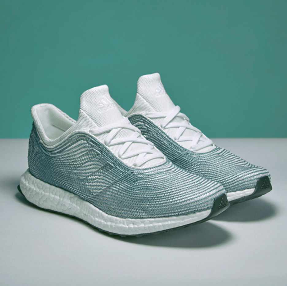 Parley World Oceans Day Plastic Adidas Trainer [Image: Adidas / Dezeen]
