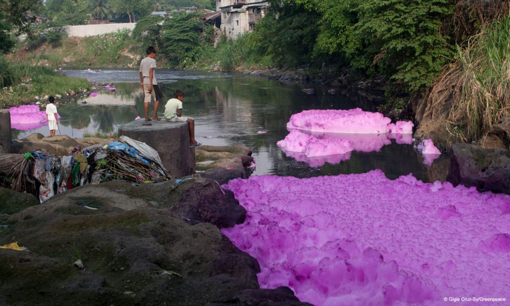Toxic River in the Phillipines