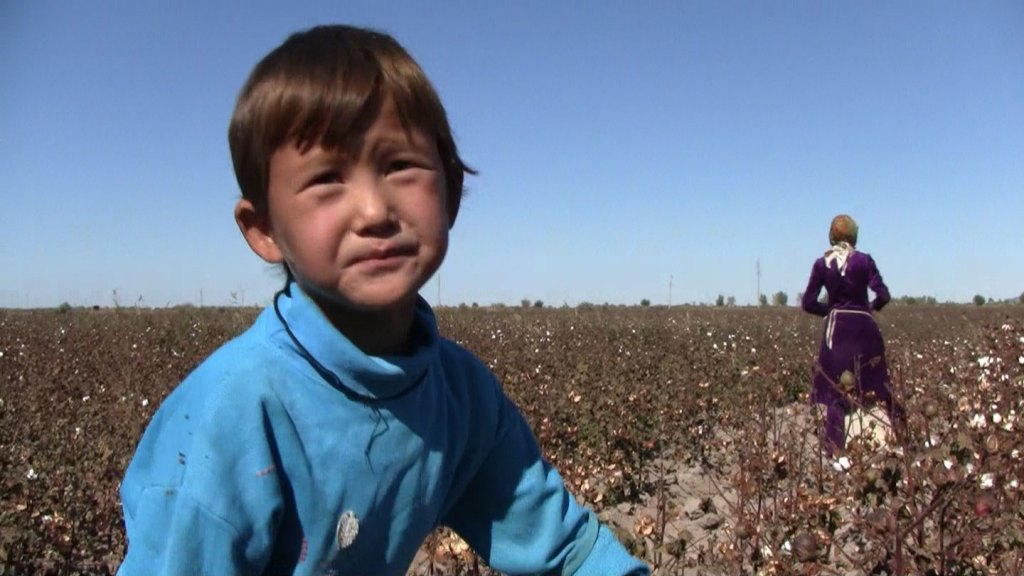 Children in Uzbekestan forced into cotton picking [Image: Labor Rights Blog]