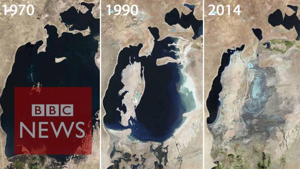 Aral Sea: Man-made environmental disaster [Image: BBC News]