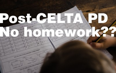 Post-CELTA Professional Development 7: 4 reasons not to give our language learners any homework