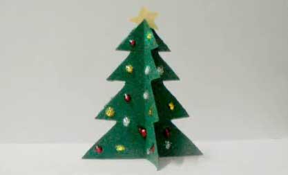 Arbol de navidad con cartulinas