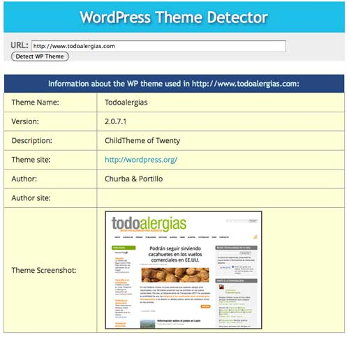 Detector de temas y child themes de WordPress
