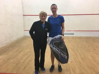 Hayley Brown (Right) with Tournament Chair Barbara Cooper