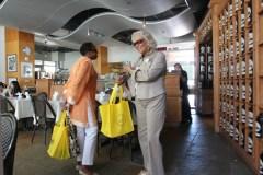 Cille Washington and Marianne Steverson visit the Chado Tea Room during the Los Angeles International Tea Festival.