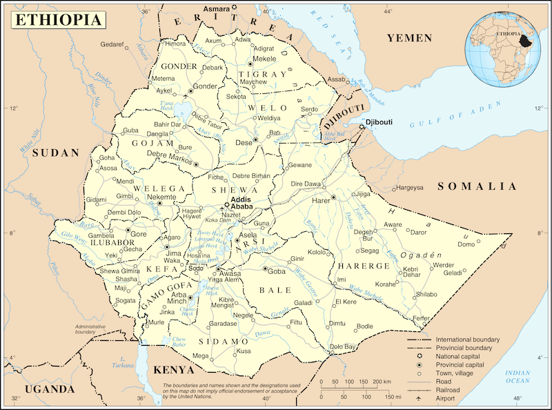 Ethiopia geography map location truth
