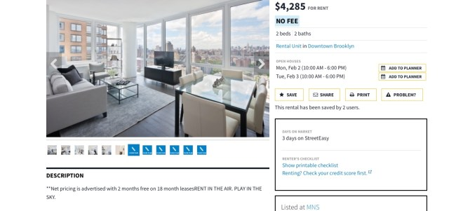 Riddle me this: do you think the views in this generic picture belong to this apartment? I don't because I've seen the same photo used for at least five other listings. I hate it when companies advertise their properties in this manner.