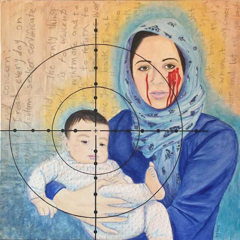 Painting Yana & Child by Bridget Steis