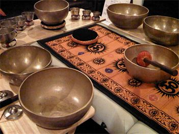 Tibetan singing bowls. Photo from website A Touch From the Hearth: http://www.atouchfromtheheart.com/Sound-Healing.html.