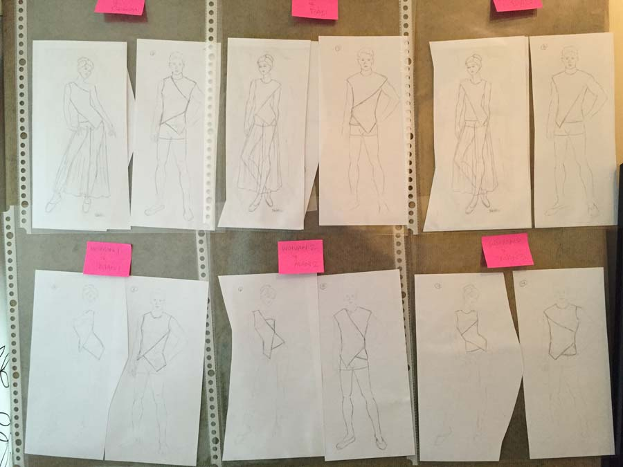 Sacred Thread, rough sketches, planning, costume design