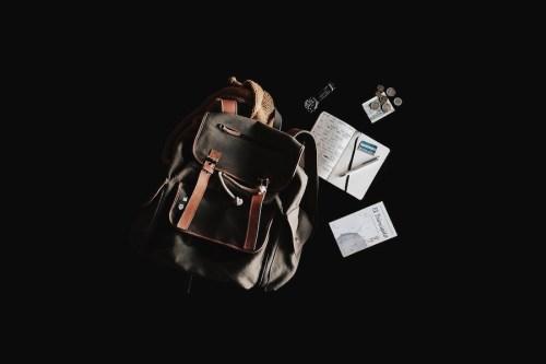 Travel planning blog past - Backpack flatlay