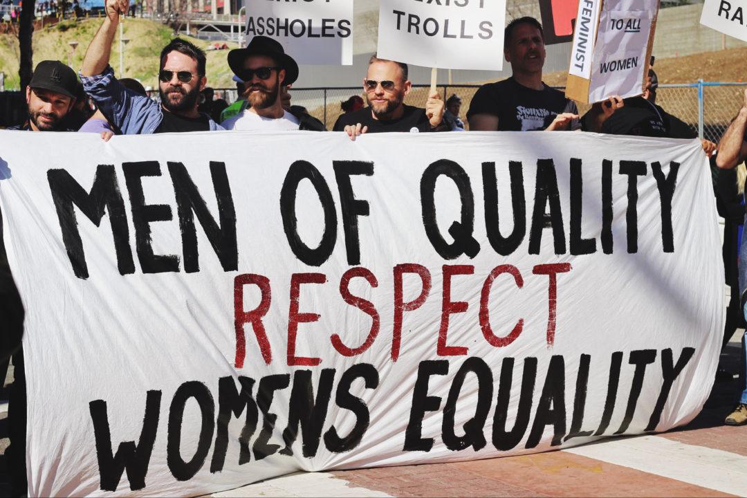 men, quality men, respect, women's equality, men for women, taking space