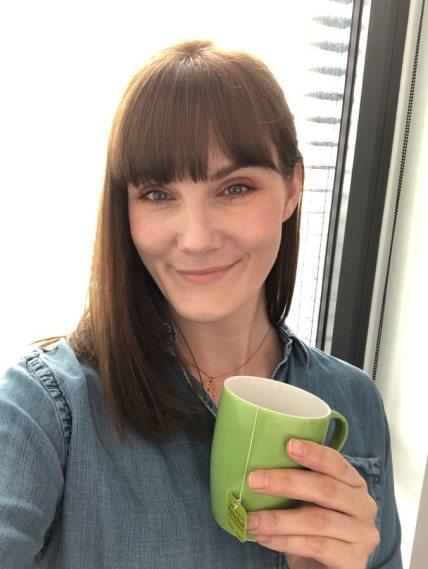 tea selfie, Lem, office tea, green tea, busy, escape, savour