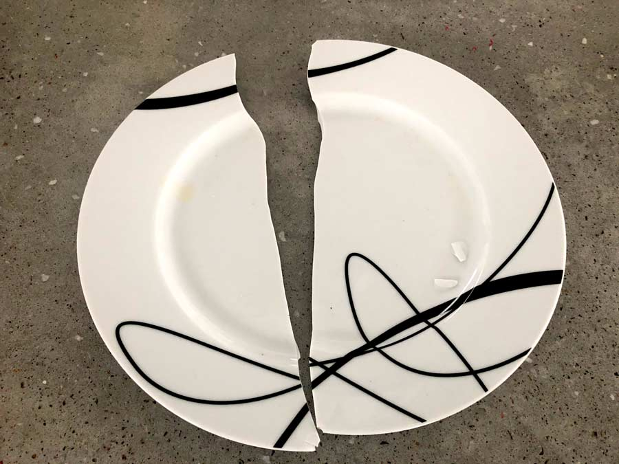 Co-workers have broken a plate