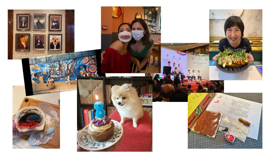 Director of Possibilities creative time, a collage of 8 images from Bridget's life