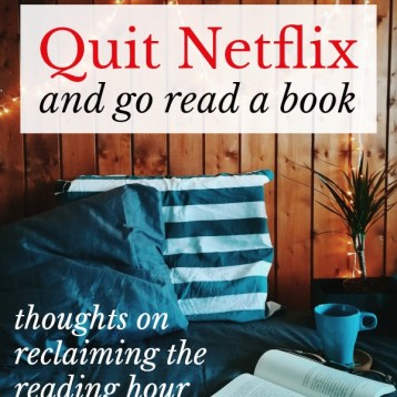 Reclaiming the Reading Hour: Please Quit Netflix and Go Read a Book