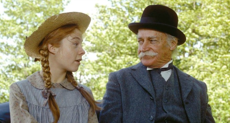 Megan Follows and Richard Farnsworth drive to Avonlea in the 1985 Anne of Green Gables