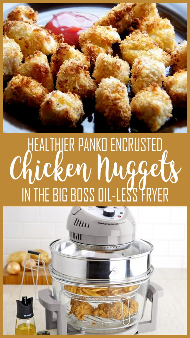 Slimming World Friendly Recipe - Healthier Chicken Nuggets with Panko breadcrumbs in the Big Boss Oil-less Fryer Recipe