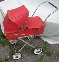 memories of childhood - red pram